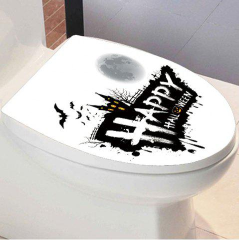 Best Happy Halloween Bathroom Wall Sticker BLACK