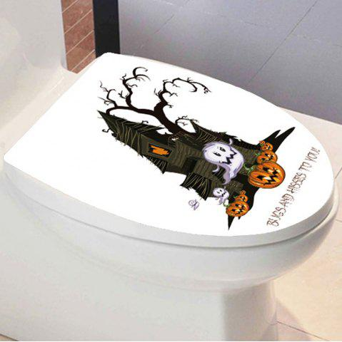 Unique Halloween Pumpkin Castle Bathroom Wall Sticker