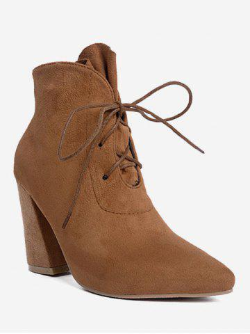 Best Tie Up Pointed Toe Ankle Boots