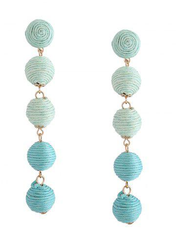 Ball Ethnic Drop Earrings Vert