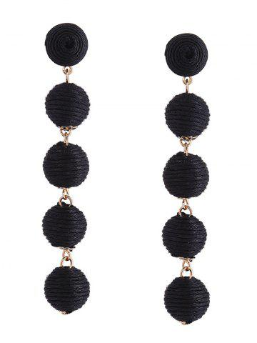Ball Ethnic Drop Earrings