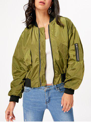 Chic Understand Bomber Jacket ARMY GREEN S