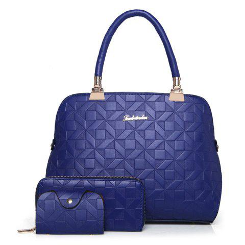 Latest 3 Pieces Metal Quilted Tote Bag Set