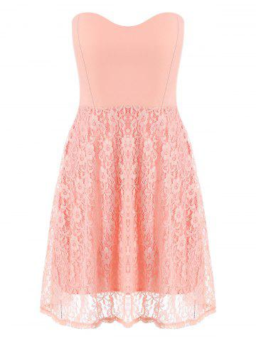 Lace Strapless Sleeveless Mini Cocktail Dress
