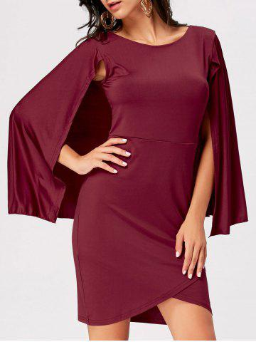 Discount Mini Party Cape Dress