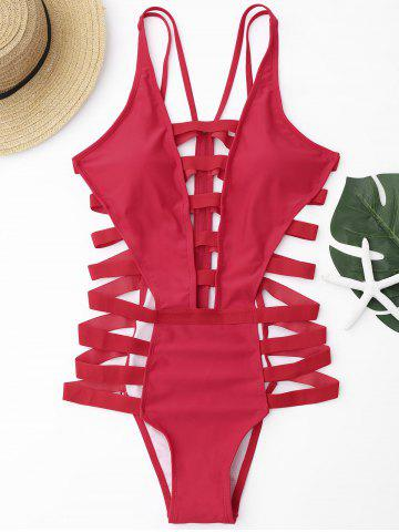 Cheap Strappy Bandage Swimsuit