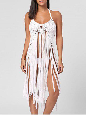 Fancy Long Fringe Crochet Cover Up