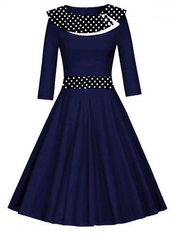 Vintage Polka Dot Fit et Flare Dress