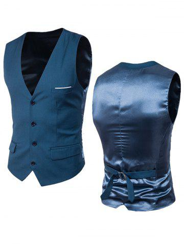Best Satin Panel Single Breasted Belted Waistcoat