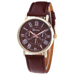 Roman Numeral Round Quartz Watch -