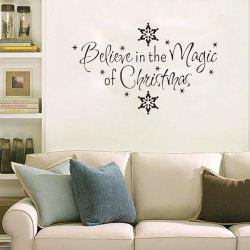 Christmas Letter Snowflake Wall Stickers For Bedroom -