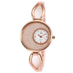 Alloy Strap Sands Face Watch - WHITE
