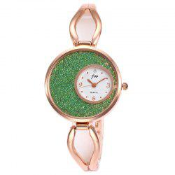 Alloy Strap Sands Face Watch - Vert