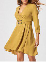 Skater Dress with Belt -
