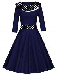 Vintage Polka Dot Fit et Flare Dress -