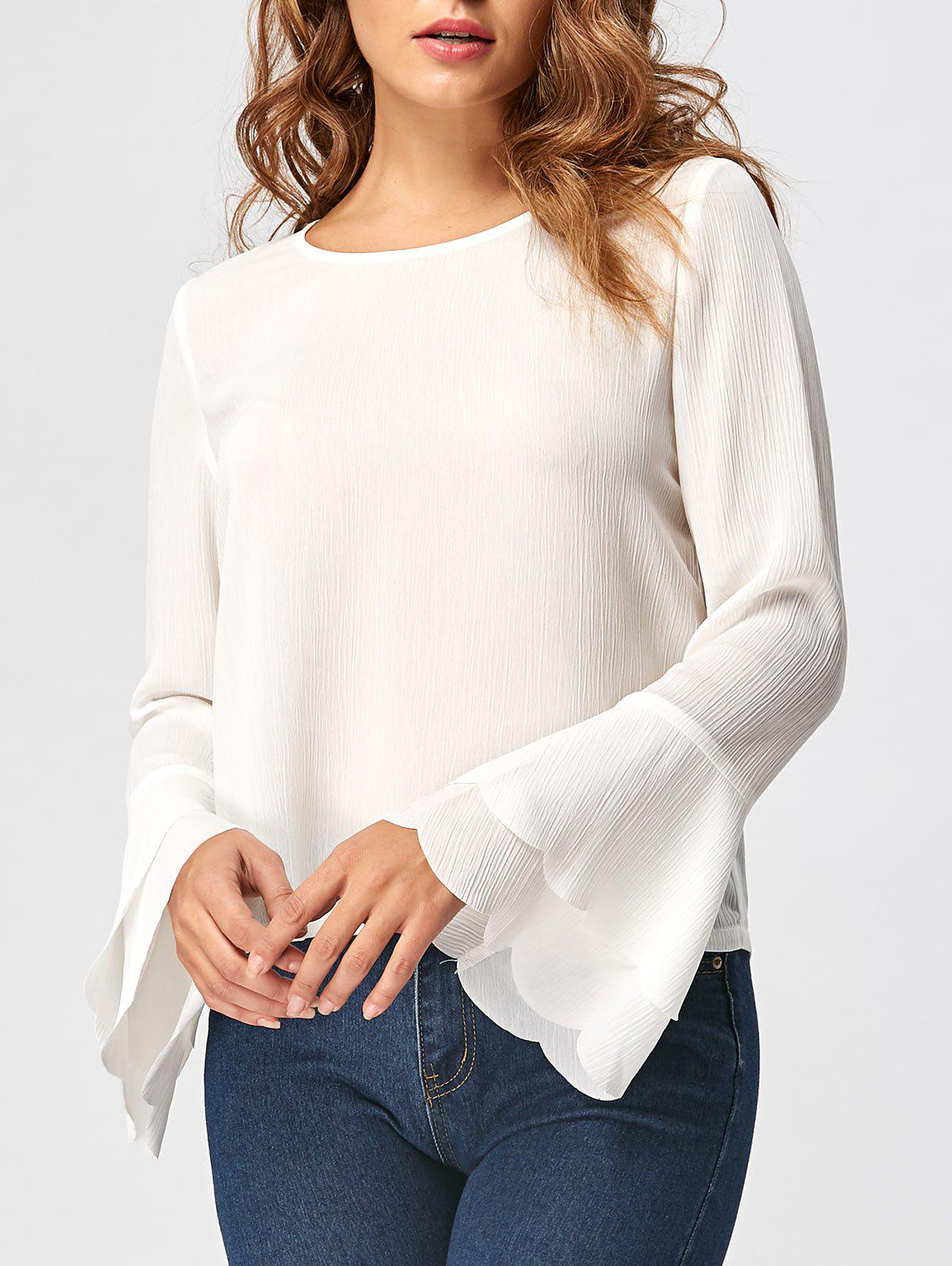 Hot Layered Flare Sleeve Blouse