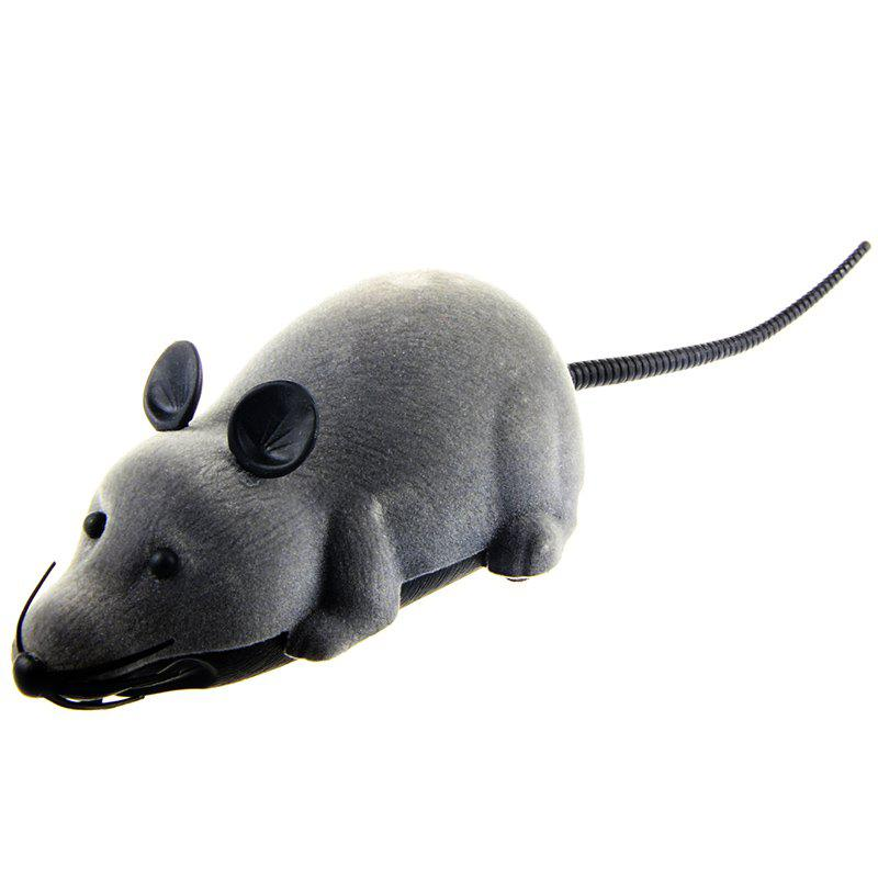 Wireless Electronic Remote Control Tricky Mouse ToyHOME<br><br>Color: GRAY; Event &amp; Party Item Type: Party Decoration; Occasion: April Fools Day,Halloween; Shape/Pattern: Animal; Material: Plastic; Package Contents: 1 x Mouse Toy  1 x Remote Control;