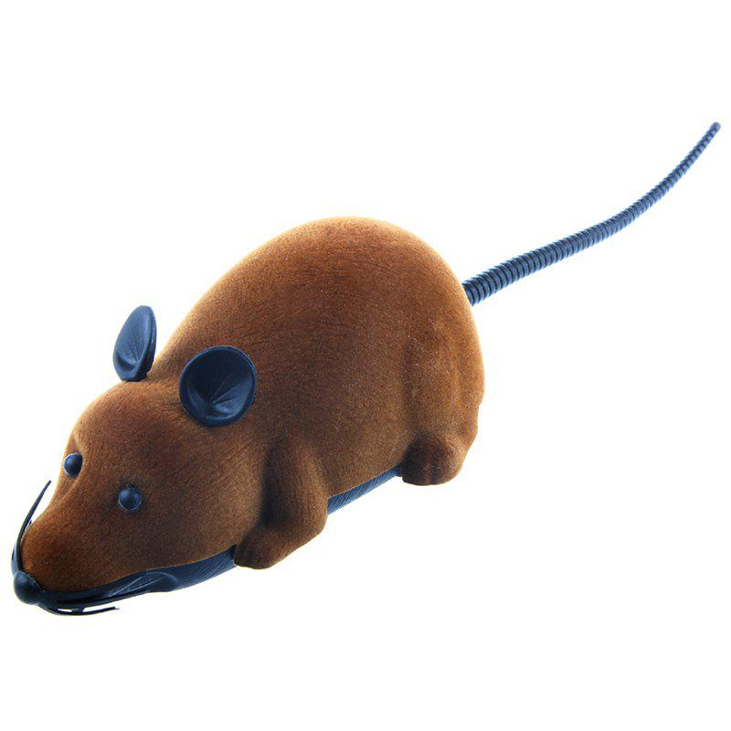 Wireless Electronic Remote Control Tricky Mouse ToyHOME<br><br>Color: BROWN; Event &amp; Party Item Type: Party Decoration; Occasion: April Fools Day,Halloween; Shape/Pattern: Animal; Material: Plastic; Package Contents: 1 x Mouse Toy  1 x Remote Control;