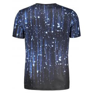 Short Sleeve 3D Galaxy Print T-shirt -
