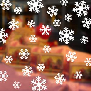 Christmas Snowflake Wall Stickers For Bedroom - WHITE