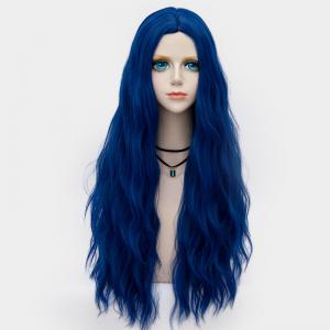 Long Middle Part Fluffy Water Wave Synthetic Party Wig - ROYAL