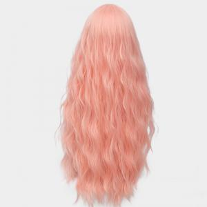Long Middle Part Fluffy Water Wave Synthetic Party Wig - PAPAYA
