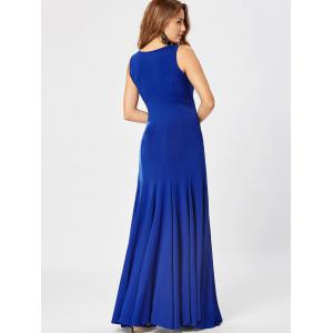 Tank Maxi A Line Dress - Bleu 2XL