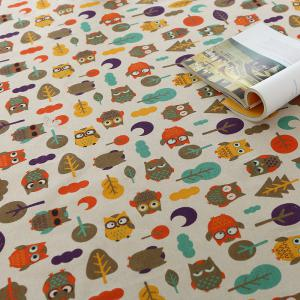 Cartoon Owl Pattern Table Cloth - COLORFUL W55 INCH * L40 INCH