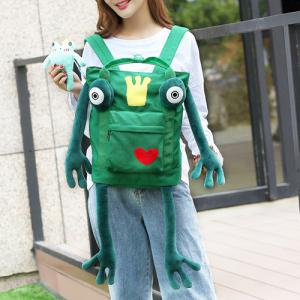 Embroidery Pendant Funny Frog Backpack -