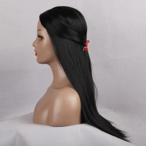 Long Center Parting Straight Heat Resistant Synthetic Wig -