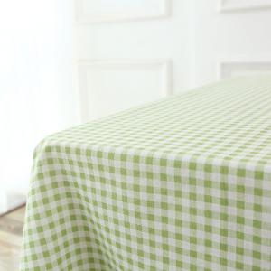 Plaid Printed Linen Table Cloth - GREEN W35.5 INCH * L35.5 INCH