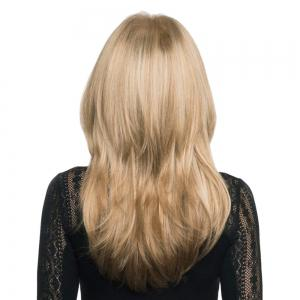 Long Side Parting Layered Shaggy Straight Synthetic Wig - M27/613# 20INCH