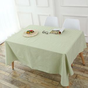 Plaid Printed Linen Table Cloth - GREEN W55 INCH * L55 INCH