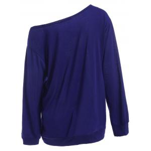 Plus Size Skull Skew Collar Sweatshirt -