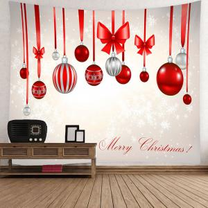Waterproof Christmas Bow Knots Balloons Pattern Hanging Tapestry -