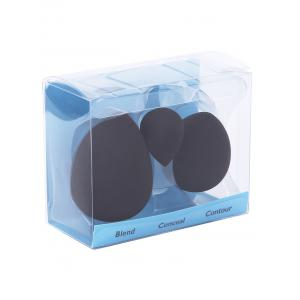 3Pcs Cosmetics Beauty Sponge Powder Puffs Waterdrop Incision - BLACK