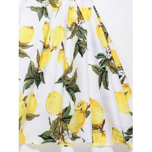Vintage Lemon Print Fit et Flare Dress - RAL1012 Tartrazine S