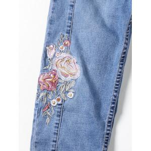 Embroidery Embellished Cigarette Jeans -
