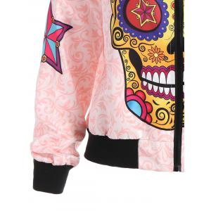 Halloween Skull Star Printed Jacket -