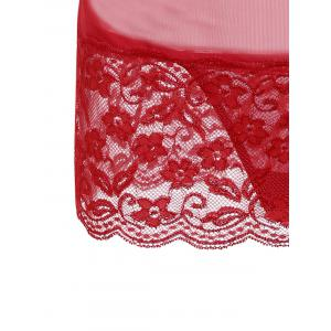 Babydoll en Dentelle Transparent -