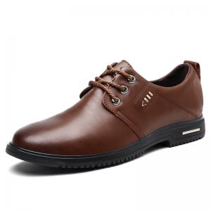 Stitching Metal Faux Leather Formal Shoes -