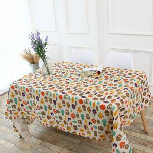Cartoon Owl Pattern Table Cloth -