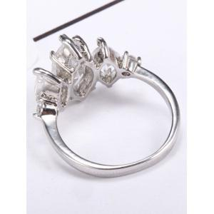 Horse Eye Shape Zircon Embellished Metal Ring -