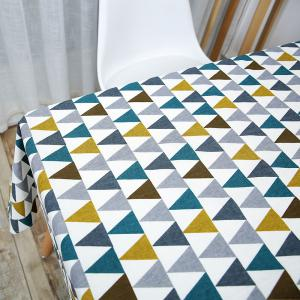 Triangle Printed Linen Table Cloth -
