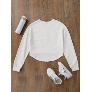 Floral Applique High Low Sweatshirt -