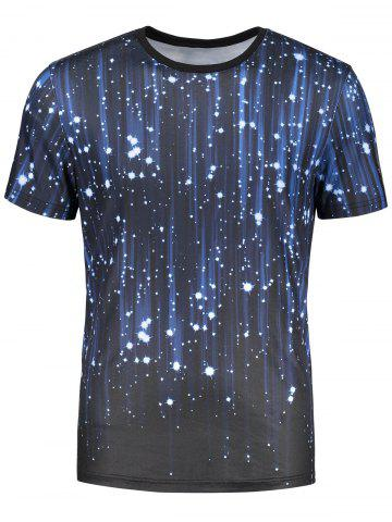 Sale Short Sleeve 3D Galaxy Print T-shirt