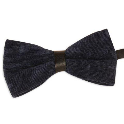 Unique Multicolor Corduroy Bow Tie PURPLISH BLUE