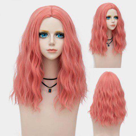 Medium Center Parting Fluffy Water Wave Synthetic Party Wig