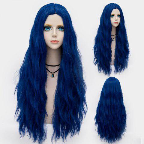 Buy Long Middle Part Fluffy Water Wave Synthetic Party Wig - ROYAL  Mobile
