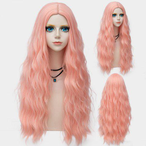 Outfit Long Middle Part Fluffy Water Wave Synthetic Party Wig PAPAYA